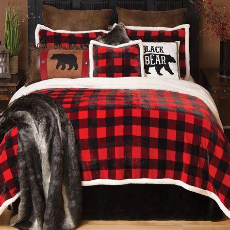 buffalo plaid duvet cover buffalo plaid plush bed set king