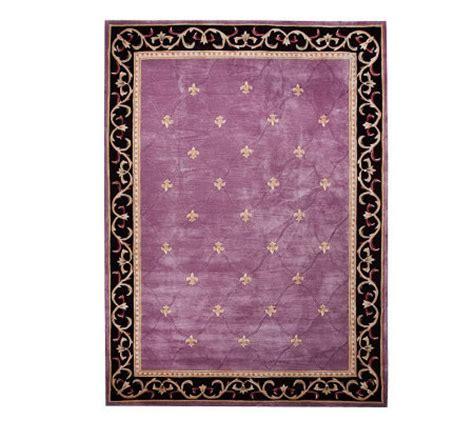 qvc rugs clearance royal palace heritage fleur de lis 8 x 11 handmade rug