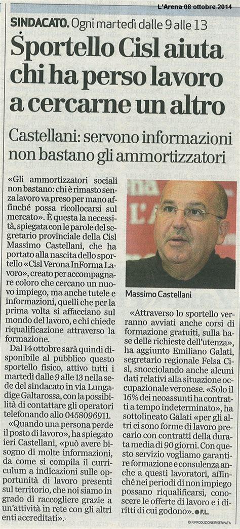 Ufficio Impiego Verona - 200 nato quot cisl informalavoro quot cisl verona