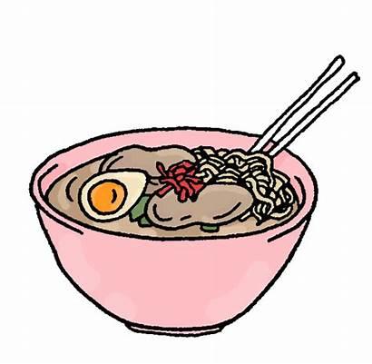 Bowl Noodle Clipart Ramen Transparent Steaming Sticker