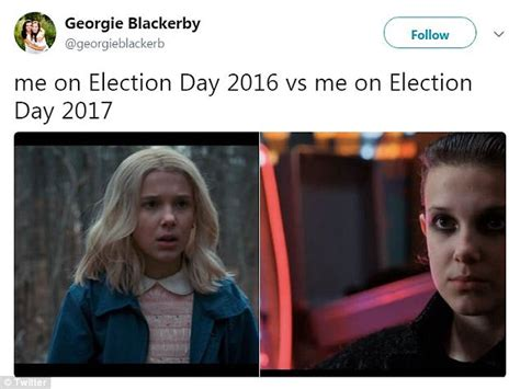 Election Day Memes - memes capture difference between election day 2016 2017 daily mail online