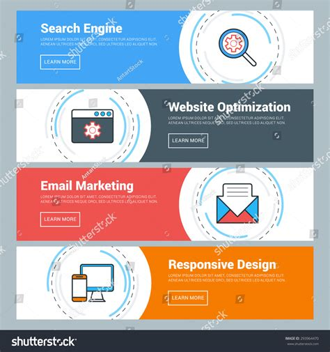 website search engine optimization flat design concept set vector web stock vector 293964470