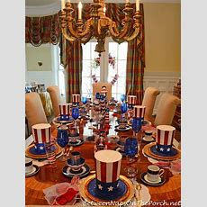 4th Of July, Patriotic And Independence Day Party Table
