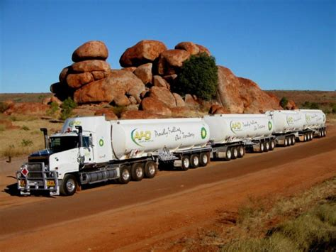 the biggest longest trucks in the world road trains in
