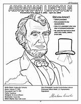 Coloring Pages Lincoln Abraham Presidents President Printable Jefferson Thomas Congress Andrew American Jackson Books Sheets States United Log Activity Sketch sketch template
