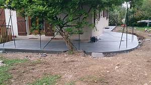 Plot Terrasse Beton : terrasse bois sur plots ciment ~ Edinachiropracticcenter.com Idées de Décoration
