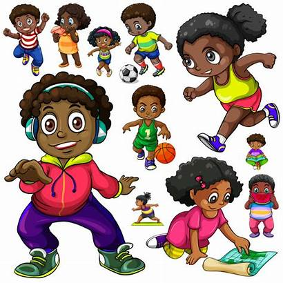 African American Things Doing Clipart Different Vector
