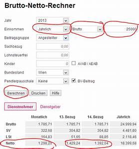 Abrechnung Der Brutto Netto Bezüge : der gehaltsrechner 2016 2017 f r sterreich ~ Themetempest.com Abrechnung