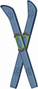 A Pair of Snow Skis and Ski Poles - Royalty Free Clipart ...