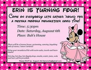 4th Birthday Party Invitation Wording | Drevio Invitations ...