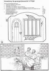 Paul Bible Silas Coloring Pablo Sunday Crafts Prison Jail Acts Biblia Manualidades Interior Tarjeta Pop Recorta Barrotes Ninos Story Lessons sketch template