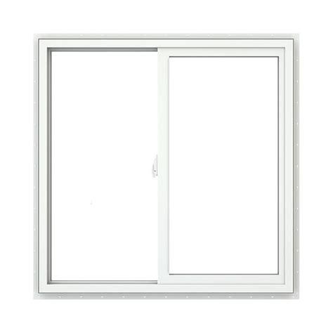 jeld wen 174 vinyl sliding window with brickmould at menards 174