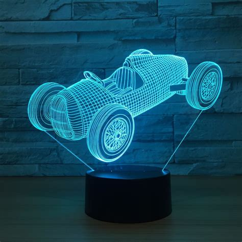aliexpress buy racing car luminarias usb l 7 color changing led 3d atmosphere