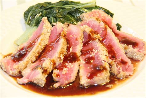 tuna steak recipes stranded in cleveland sesame ahi tuna recipe teriyaki citrus sauce