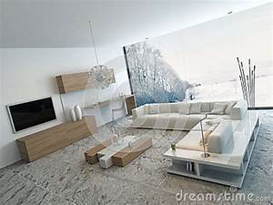 Meuble Salon Moderne : meuble salon en bois blanc ~ Premium-room.com Idées de Décoration