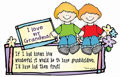 Image result for Grandchildren Clip Art and Saying