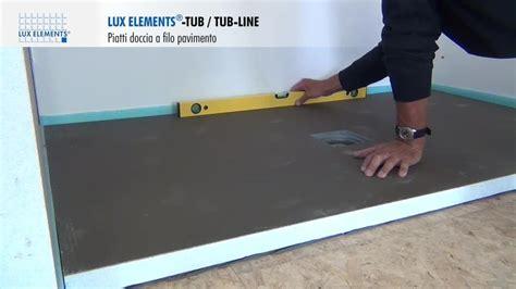 montaggio lux elements piatti doccia  filo pavimento tub