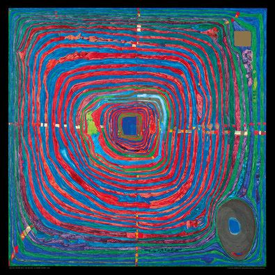 Hundertwasser Der Große Weg Poster Kunstdruck Bei