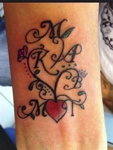 Family Names Tattoo Idea   Tattoos   Pinterest   Initials ...