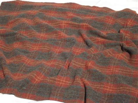 Vintage Plaid Wool Camp Blanket, Lodge Or Cabin Style Woolrich Blanket Hot Water Tank Insulation Blanket Uk Baby Satin Binding Tutorial Crochet Patterns Blankets Ripple No Sew Fleece Ties Sunbeam Electric Blinking F2 How To Make A W Out Bulky Knots What Age Should Babies Sleep With Pendleton Heirloom Bed