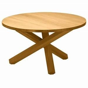 Table Pied Croisé : table de salle manger ronde en bois massif triple pieds ~ Teatrodelosmanantiales.com Idées de Décoration