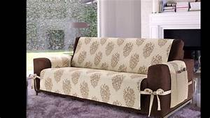 elegant sofa covers diy decoration ideas youtube With furniture covers for decorating