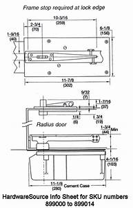 Rixson Floor Door Closer Pivot Set