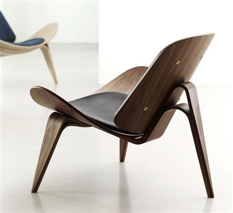 shell chair by hans j wegner denmark ernst h interiors