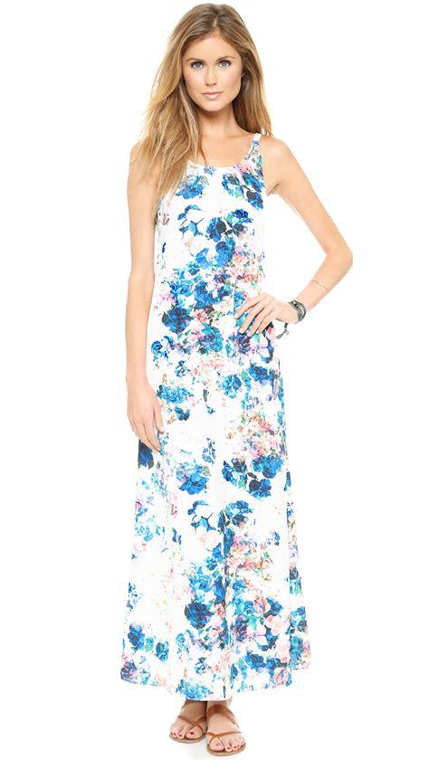 light blue floral dress lovers friends lovers friends golden light maxi dress