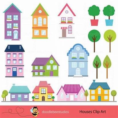 Clip Houses Edificios Casas Homes Clipart Infantiles
