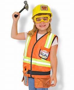 Melissa & Doug Kids Costume Construction Worker Dress Up