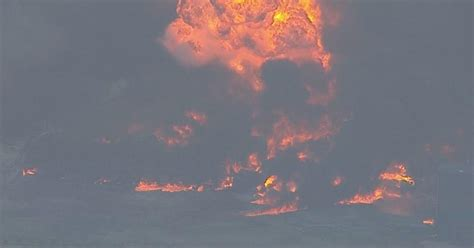 explosions fire rock texas chemical plant cbs news
