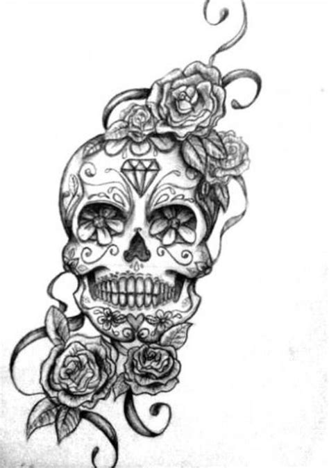 Skull 1 for bicep tattoo (needs more roses surrounding as a filler) | Candy skull tattoo