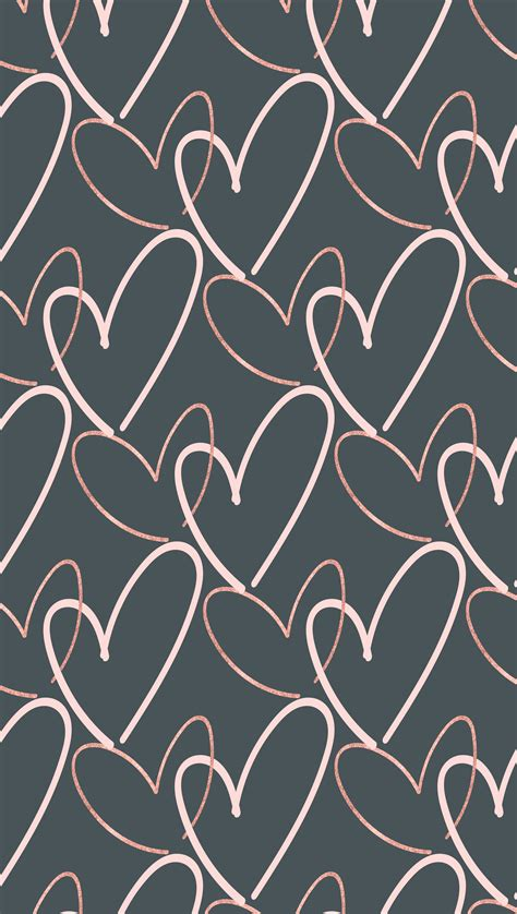 Wallpaper Pattern Phone by Free S Day Hearts Phone Background Wallpaper