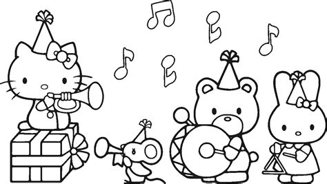 kitty birthday coloring pages getcoloringpagescom