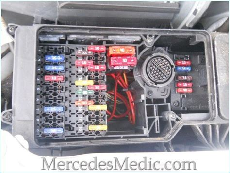 fuses  mercedes benz  class   located