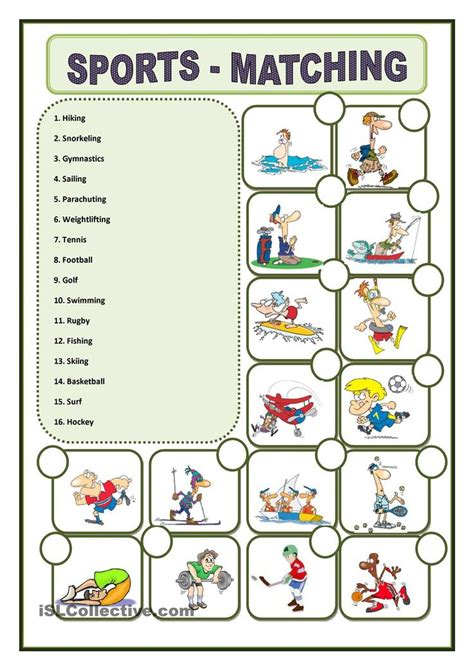 sports worksheet pesquisa nadir student centered resources search and