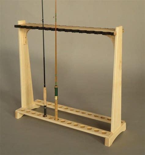 hand crafted fly rod rack  katahdin studio furniture