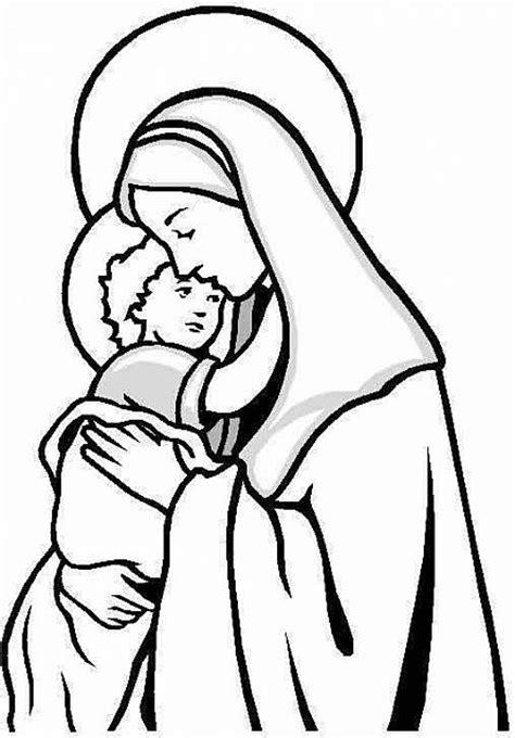disegni madonna con bambino da colorare madonna da colorare per bambini disegni da colorare e