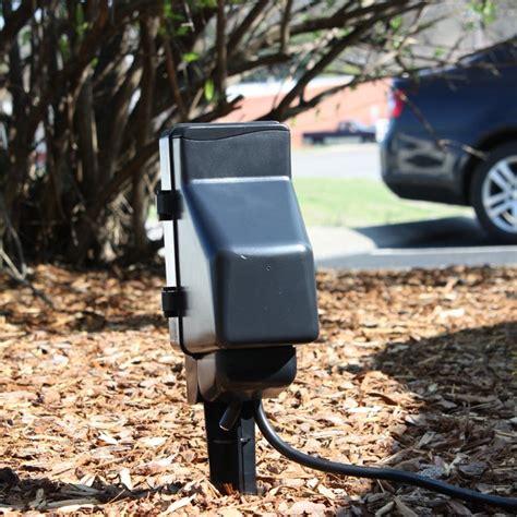 porch light hidden camera outdoor hidden camera power stake camera and dvr zone shield