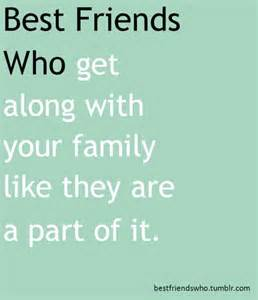 Best Friends Are Family Quotes