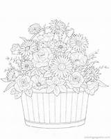 Coloring Pages Flower Bouquets Bouquet Flowers Boeketten Fun Colouring Adult Kleurplaten Printable Cool Sheets Maleboeger Pattern Adults Coloringpagesfun Mandala Unicorn sketch template