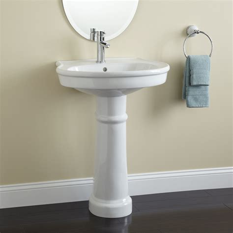 Pedestal Sink by Therese Porcelain Pedestal Sink Bathroom
