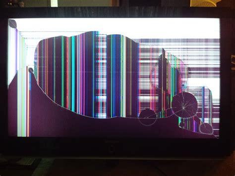 photo broken tv damaged debris destroyed