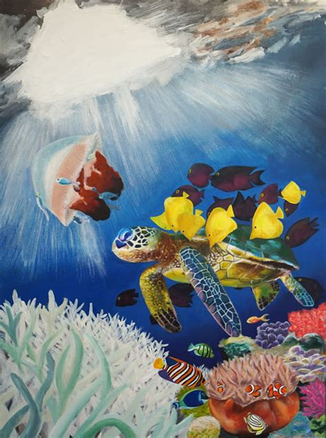 international art competition inspired  coral reefs