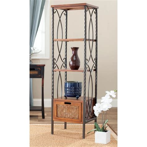 Etagere Shelf by Safavieh Etagere 4 Shelves Storage Unit Amh6539a