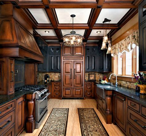 two toned kitchen cabinets Kitchen Traditional with apron