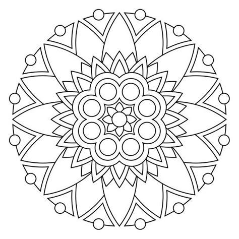 easy mandala coloring page getcoloringpagescom