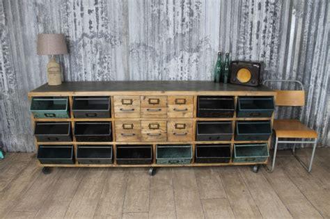 vintage style sideboard  metal storage box