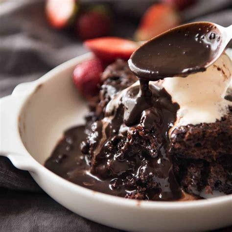 chocolate  saucing pudding recipetin eats